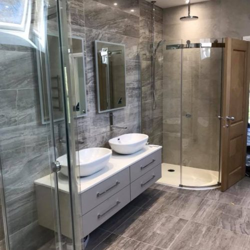 Downlighters in Bathroom an Electrical Installation